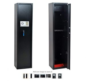 5 - Homegear Large 5 Rifle Electronic Gun Safe for Firearms with Internal JewelryValuables Lockbox
