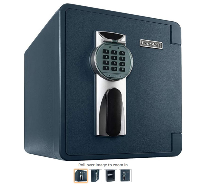 11 First Alert 2087DF Waterproof 1 Hour Fire Safe with Digital Lock, 0.94 Cubic Foot, Gray