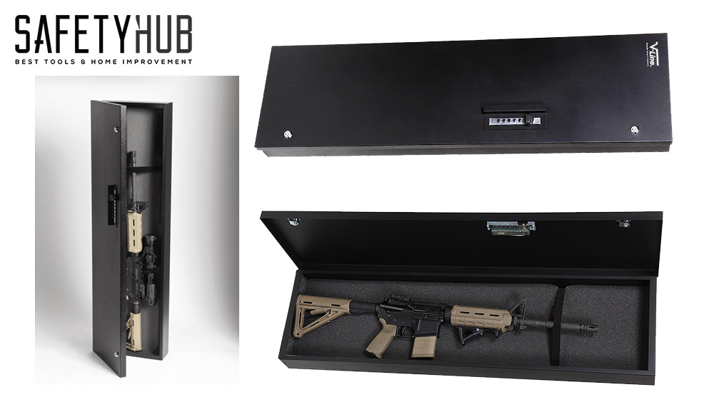 2. V-Line Quick Access Keyless Long Gun Safe – Ideal For Storing Your AR-15