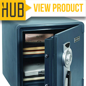 3. First Alert 2087F Waterproof and Fire-Resistant Bolt-Down Combination Safe small size