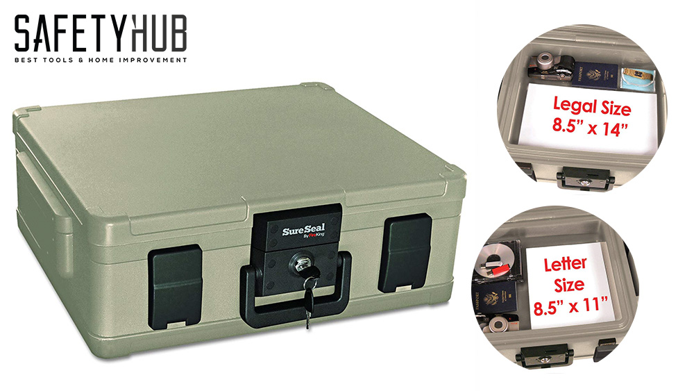 4 . SureSeal by FireKing SS104-A 1 Hour Fireproof Waterproof Safe Chest - Back To Basics