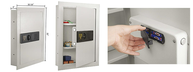 1 Paragon 7750 Electronic Wall Lock and Safe.83 CF Hidden in Wall Large Safe