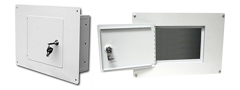3-Homak Between the Studs High-Security Steel Wall Safe, White, WS00017001
