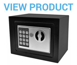 3 Safstar Digital Electronic Safe Box 9.2 x 6.8 x 6.8Black