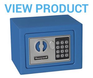 4 Honeywell - 5005B Steel Security Safe with Digital Lock, 0.17-Cubic Feet, Blue