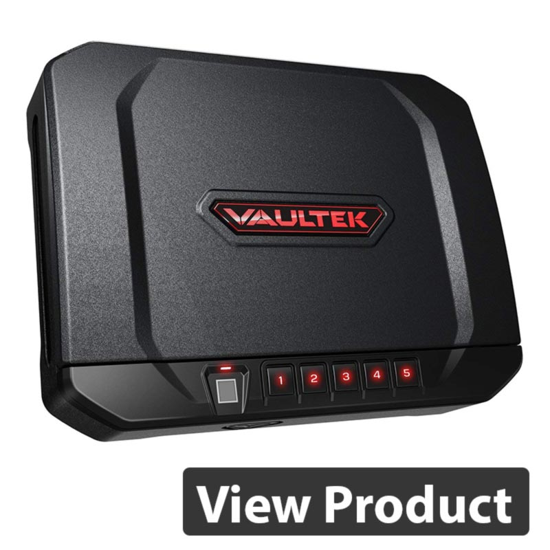 3 VAULTEK VT20i Biometric Handgun Safe Smart Pistol Safe with Auto-Open Lid and Rechargeable Battery