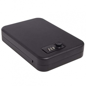 Ivation 16-Gauge Steel Lockbox with for Handgun Storage