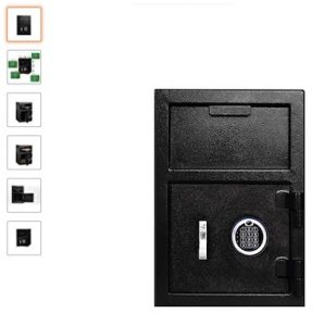 12 Templeton Standard Depository Safe - Electronic Keypad Combination & Key Backup copy