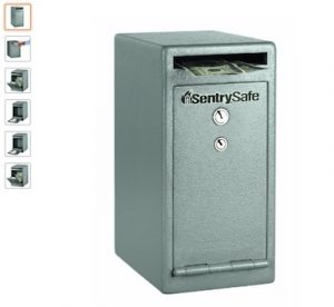 2 SentrySafe Depository Safe, Medium Dual Key Lock Money Safe with Drop Slot, 0.38 Cubic Feet, UC-039K copy
