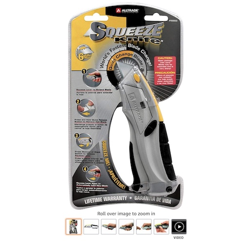 5. Alltrade 150003 auto-loading Squeeze Utility Knife copy