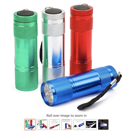10. FASTRO 4-PACK Aluminum LED Flashlight (check price) copy