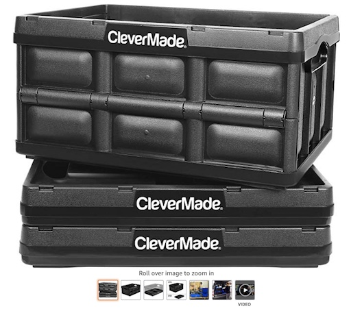 1 CleverMade 62L Collapsible Storagebins (check price) copy