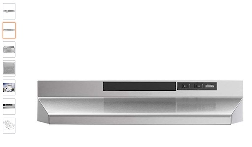 1. Broan F403604 Two-Speed Four-way Convertible Range Hood (check price) copy
