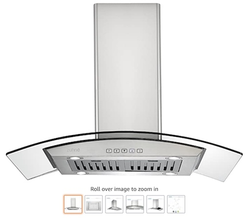 10 Zuchne iChorus kitchen Island Range hood (check price)