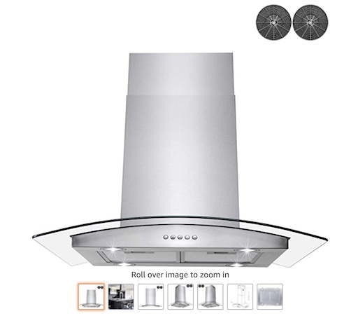 4 AKDY Stainless Steel Island Mount Range hood (check price)