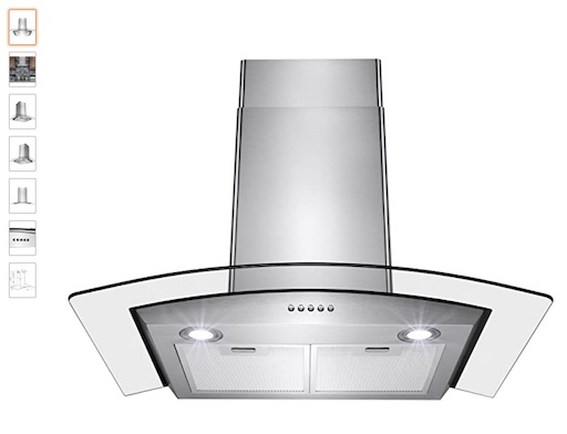 5 Perfectto Kitchen and Bath Range Hood (check price)