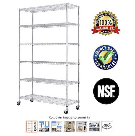 8 6-Tier Wire Shelving Rack (check price) copy