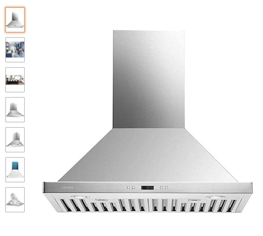 9 Cavaliere 30 inches Range Hood Wall Mounted Brushed Stainless Steel Kitchen Vent (check price)