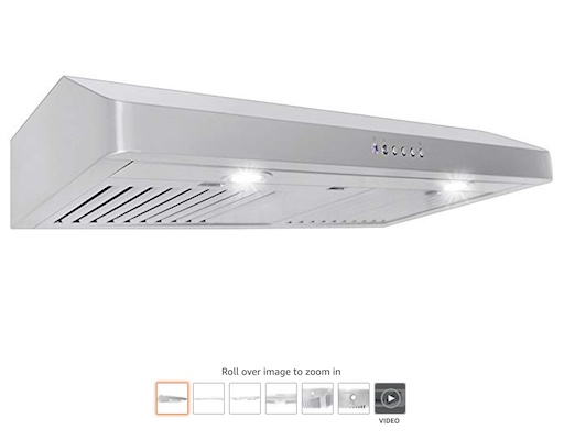 9. Proline Under Cabinet Range Hood (check price) copy