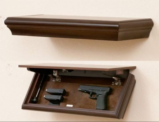 #4 Hide your Weapons in Plain Sight with a Floating Shelf Hidden Gun Cabinet Plan
