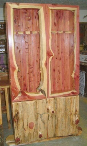 #5 The cedar gun cabinet for functional use