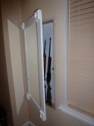 #8 Hidden gun cabinet improves gun security