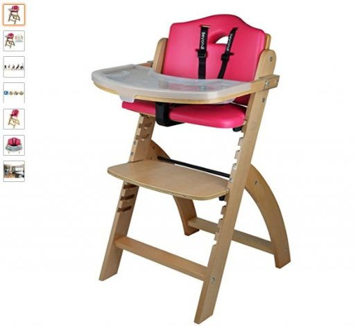 Best High Chair For Small Spaces 7 Abiie Beyond Wooden High Chair with Tray