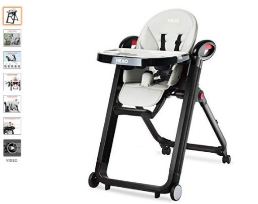 Best High Chair For Small Spaces 9 HEAO Foldable High Chair