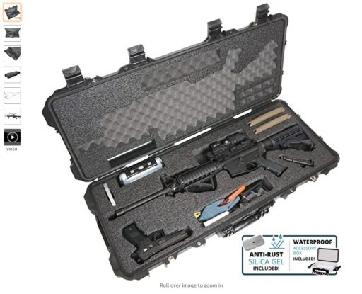 Best AR Cases 4 Case Club AR15 Pre-Cut Waterproof Rifle Case with Included Silica Gel to Help Prevent Gun Rust