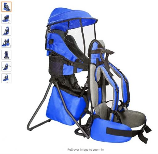 Best Child Shoulder Carriers 4 ClevrPlus Cross Country Baby Backpack Hiking Child Carrier Toddler Blue