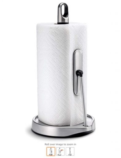 Best Paper Towel Holders 6 simplehuman Tension Arm Paper Towel Holder, Brushed Stainless Steel