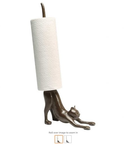 Best Paper Towel Holders 9 What On Earth Yoga Cat Paper Towel Holder - Cast Iron Stretching Cat Counter Top