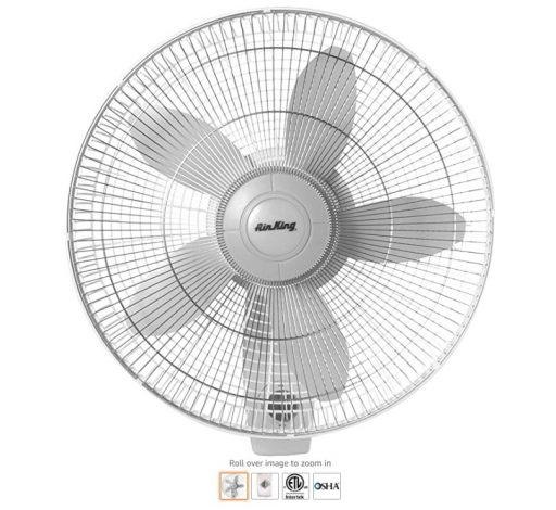 Best Wall Mount Fans 1 Air King 9018 Commercial Grade Oscillating Wall Mount Fan, 18-Inch