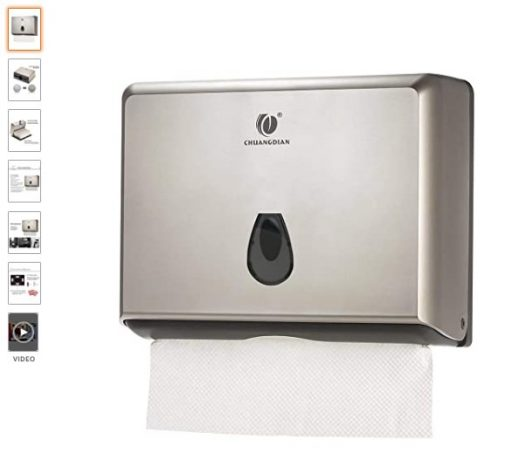 best Paper Towel Dispensers 6 CHUANGDIAN Wall-Mounted Hand Paper Towel Dispenser for Bathroom, Office&Kitchen (Gold)