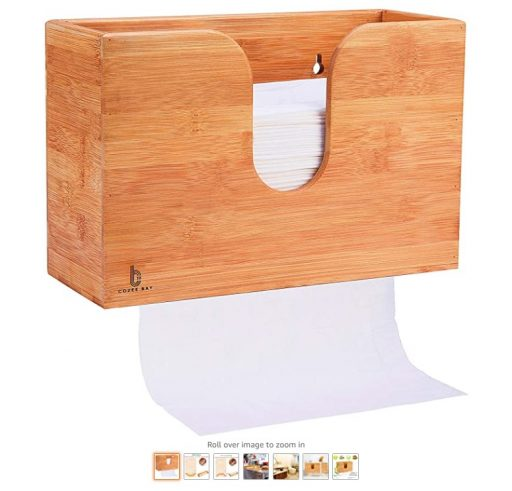 best Paper Towel Dispensers 7 Bamboo Paper Towel Dispenser, Paper Towel Holder for Kitchen Bathroom Toilet of Home and Commercial, Wall Mount