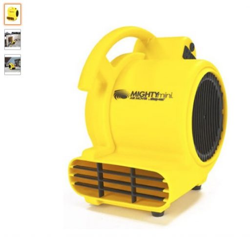 best air movers 1 Shop-Air by Shop-Vac 1032000 Mighty Mini Air Mover 3-Speed 3-Position Dryer for Wet Carpets, Floors, Walls & Ceilings, 500 CFM Motor