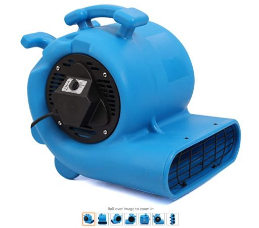best air movers 6 MOUNTO 3-Speed 3 4HP 3000CFM Air Mover Floor Carpet Dryers (Blue)