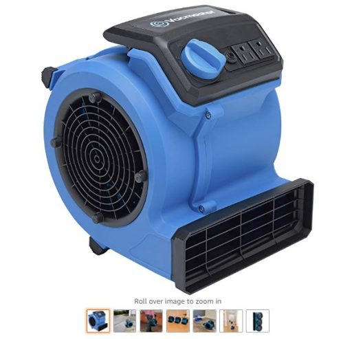 best air movers 7 Vacmaster AM201 0101 550 CFM Portable Air Mover