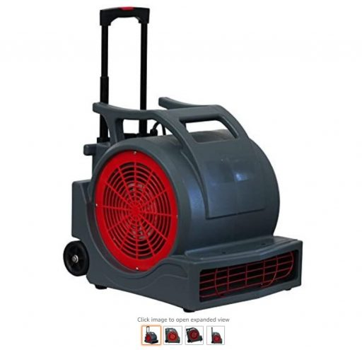 best air movers 8 MOUNTO 3-Speed 1Hp 4000 Plus CFMfm Monster Air Mover Floor Carpet Dryers with Handle Wheelkit, Grey