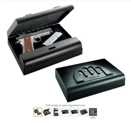 best car gun safes 1 GunVault Microvault Standard Digital Pistol Safe MV500-STD