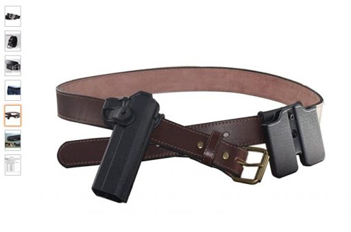 best concealed carry belts 2 Kmioc Concealed Carry CCW Leather Gun Belt 1 1 2 inch 100% Full Grain Thick Leather Belt for Gun Carry