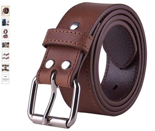 best concealed carry belts 3 POYOLEE Concealed Carry CCW Leather Gun Belt Top Grain Leather Belt for Gun Carry Mens Heavy Duty EDC Belt 1 1 2-Inch