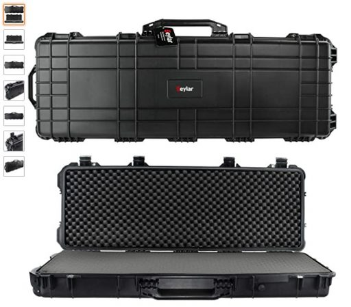 best-double-rifle-cases-10-Eylar-44-Inch-Protective-Roller-Tactical-Rifle-Hard-Case-with-Foam-Mil-Spec-Waterproof-Crushproof