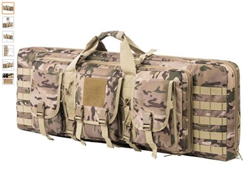 best double rifle cases 3 ARMYCAMOUSA 38 Inch Double Rifle Bag Outdoor Tactical Carbine Cases Water dust Resistant