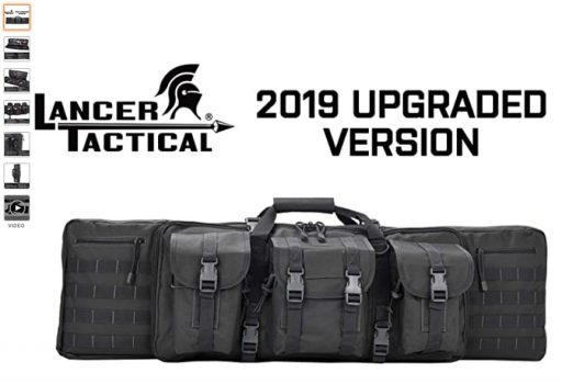 best double rifle cases 5 Lancer Tactical Rifle Case Solid Fabric Reinforced Stitch Thickened Foam Double Long Rifle Bag
