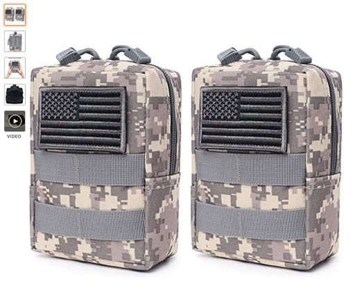 best molle pouches 6 2 Pack Molle Pouches - Tactical Compact Water-Resistant EDC Pouch (Patch Not Included) - Copy
