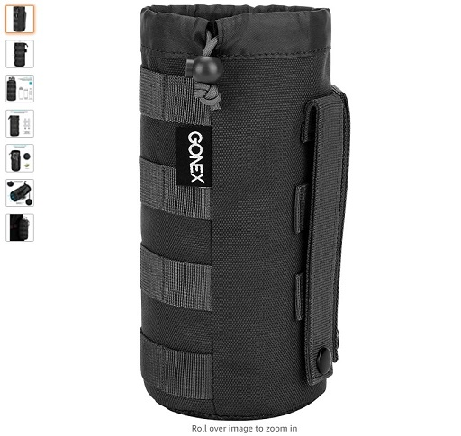 best molle pouches 7 Gonex Upgraded Tactical Military MOLLE Water Bottle Pouch, Drawstring Open Top & Mesh Bottom Travel Water Bottle Bag Tactical Hydration Carrier - Copy