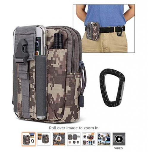 best molle pouches 8 AIRSSON Universal Tactical Molle Pouch EDC EMT Gear Tool Gadget Belt Outdoor Waist Bag Pocket Organizer with Cell Phone Holster for iPhone X Samsung S8 - Copy