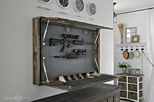 6 How To Build Hidden Gun Shelf - Copy