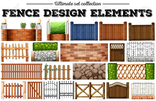 Many fence design elements
